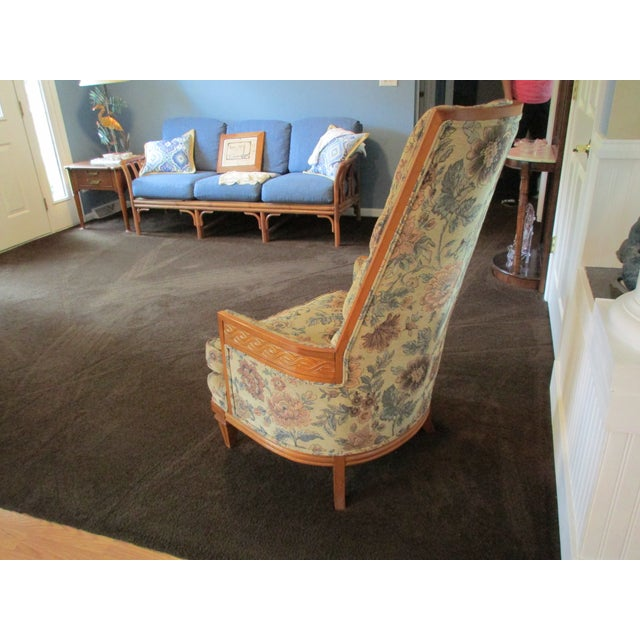 Tufted High Back Armchair - Image 8 of 11