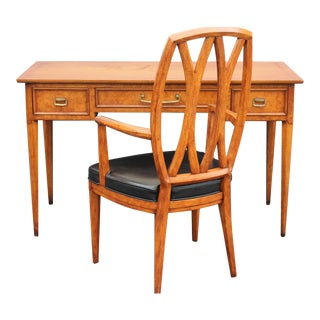 Henredon Mid-Century Writing Desk & Chair Set