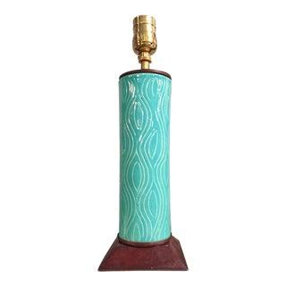 Turquoise Italian Ceramic Lamp