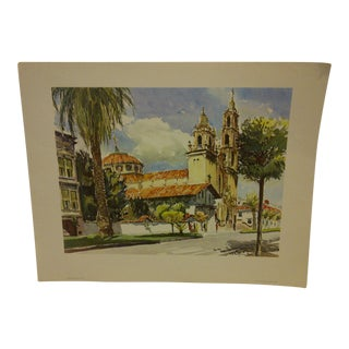 "Phil Austin ""Old Dolores Mission"" United Airlines Print"