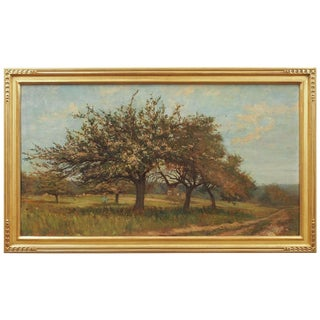 Impressionist Landscape with a Flowering Tree