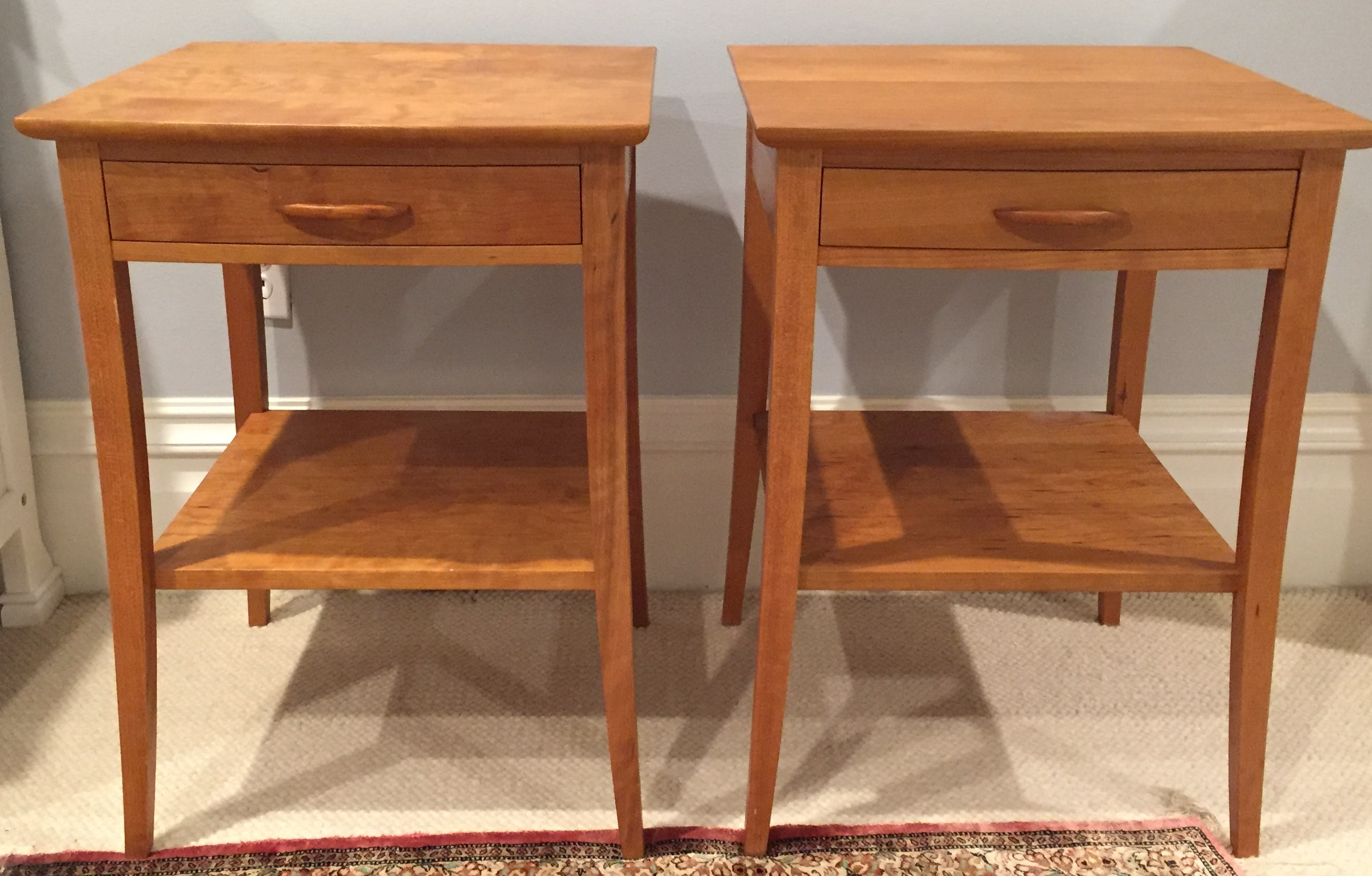 Thos Moser Cherry Crescent End Tables   A Pair   Image 2 Of 4