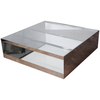 Stainless Steel Coffee Table by Joe D'urso for Knoll