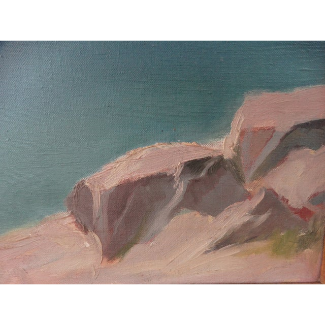1950 Mountain Range Landscape Oil Painting - Image 6 of 10