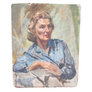 French Country Portrait of 1940's Woman