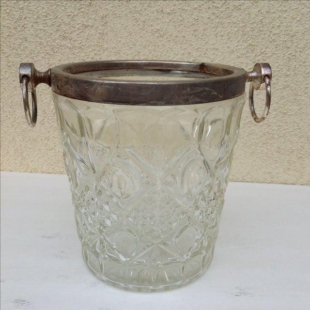 Mid Century Crystal Ice Bucket - Image 3 of 7