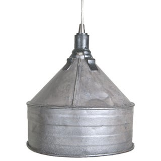 Refinished Vintage Tractor Funnel Pendant Light