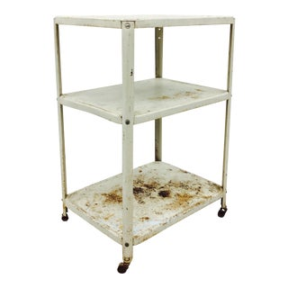 Antique Rustic Medical Cart