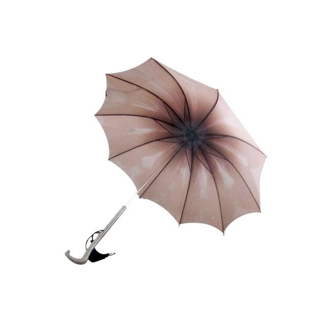 Vintage 1950s Purple Pink Ombre Umbrella - Image 6 of 6