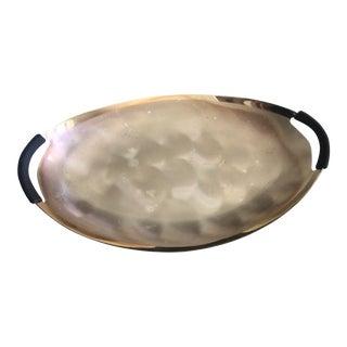 Vintage Wmf-Ikora Silver Tray With Bakelite Handle