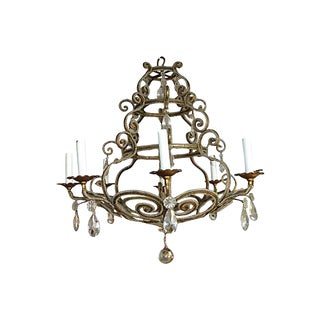 Chandelier with Crystal and Intricate Beading
