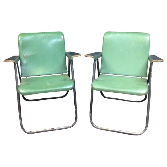 "Russel Wright ""Samson"" Folding Chairs - Image 1 of 9"