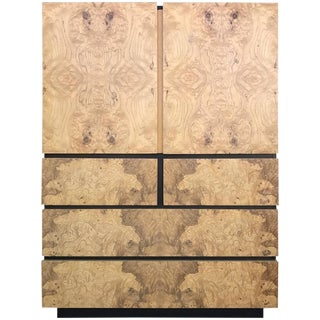 Burl Wood High Boy Dresser by Milo Baughman for Lane