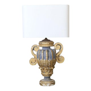 Lamp Fashioned from an Italian Urn-Shaped Fragment