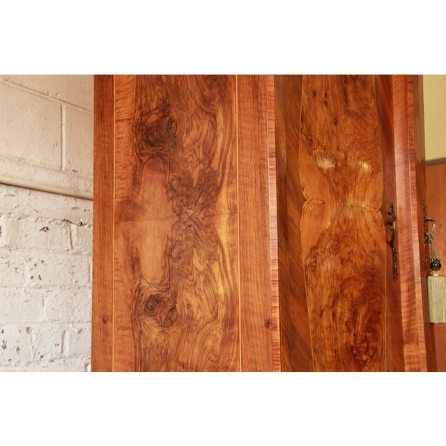1870's Burled and Inlaid French Knockdown Wardrobe - Image 7 of 11