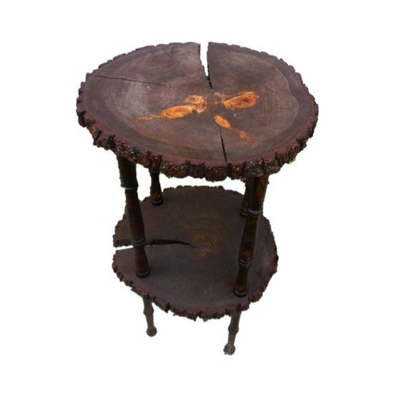 Custom Handcrafted Reclaimed Pine Table Side Table - Image 1 of 8
