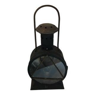 Vintage Handled Tole Lantern
