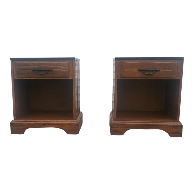A. Brandt Ranch Oak Nightstands - A Pair - Image 1 of 11