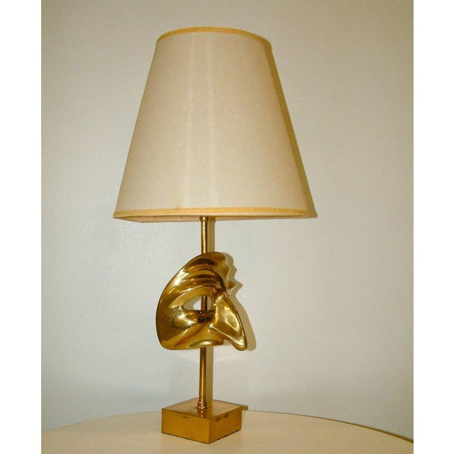 Commedia Dell'Arte Brass Mask Table Lamp - Image 2 of 9