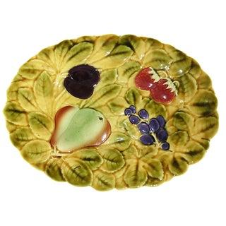 Oval Majolica Fruit Platter, 1930