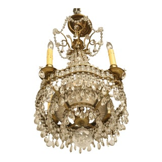 Antique French Bronze Petite Chandelier