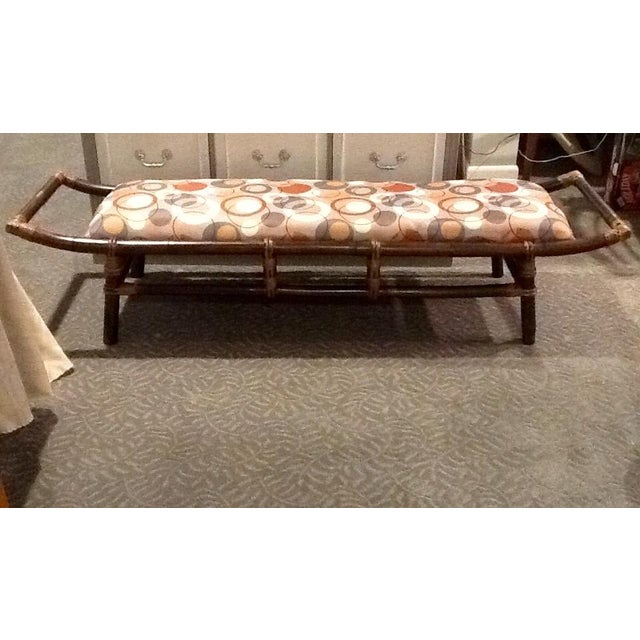 Bamboo & Rattan Bench - Image 2 of 5