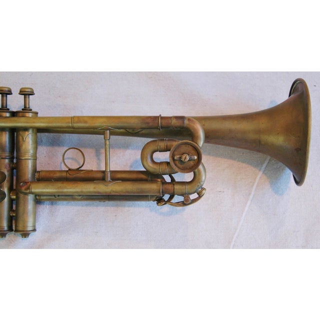 Antique Brass Trumpet Horn - Image 3 of 8