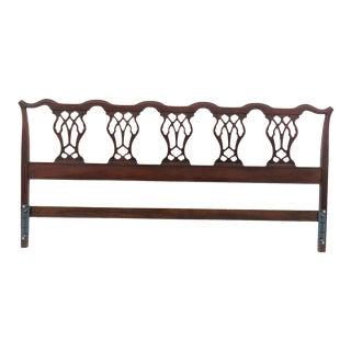 Hickory Chair Company Mahogany Chippendale King Size Headboard