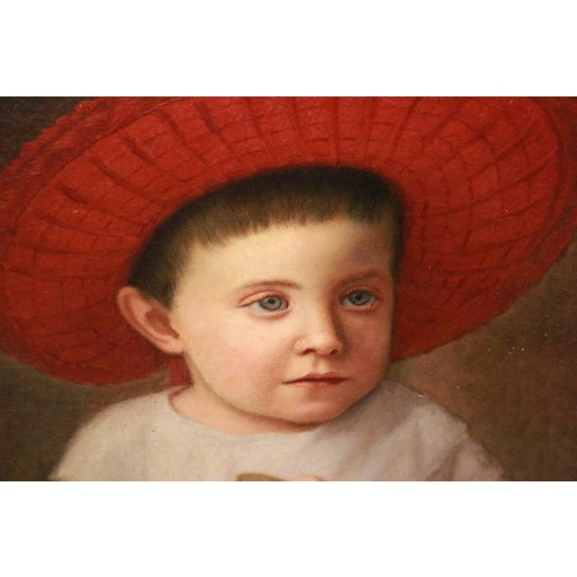 Image of Early 19th Century American Folk Art Portrait from New England