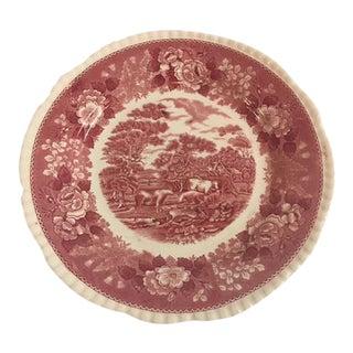 English Transferware Plate