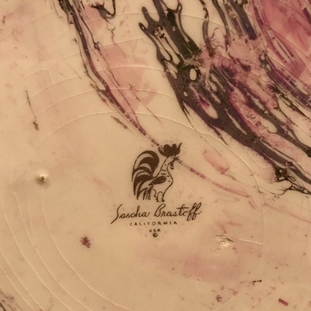 Image of Midcentury Sasha Brastoff Ceramic Plate