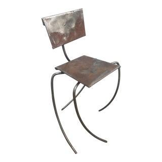 Modern Metal Chair Sculpture