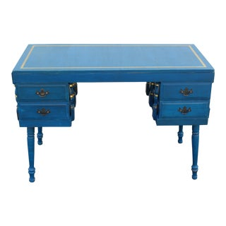 Vintage Chalk Blue Desk