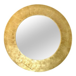 Gold Leaf Wood Beveled Mirror attrib. Karl Springer