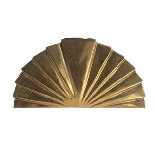 Rosenthal Netter Art Deco Brass Fan Candleholder