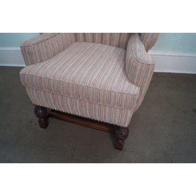 Feudal Oak Jamestown Wing Chairs - A Pair - Image 6 of 10