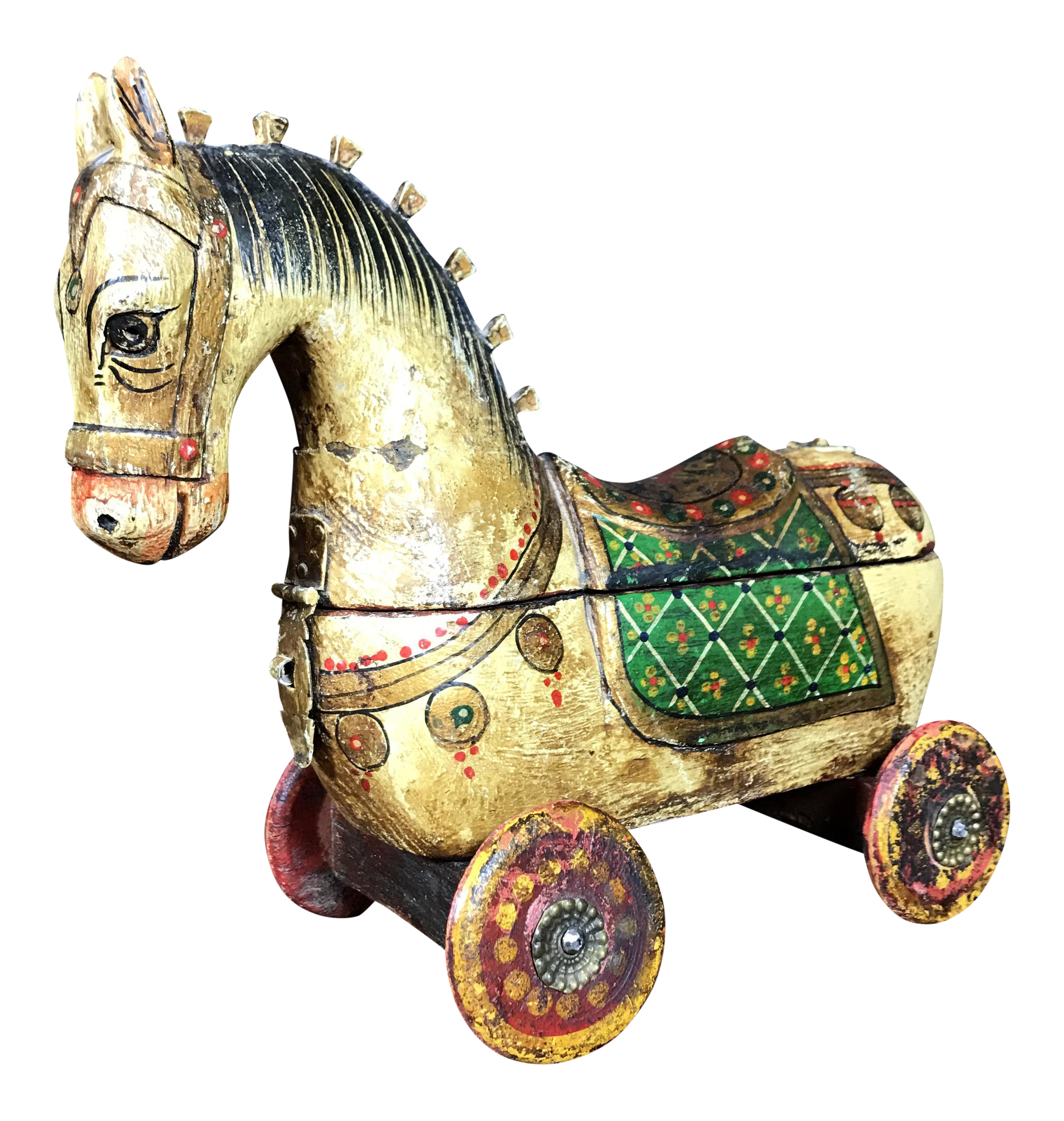 Antique Wooden Horse Jewelry Box  sc 1 st  Chairish & Antique Wooden Horse Jewelry Box | Chairish Aboutintivar.Com
