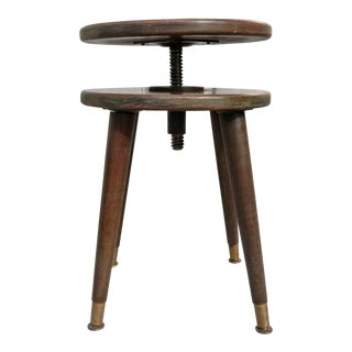 Vintage Adjustable Piano Stool