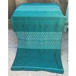 Image of Handwoven Aqua Linen Fabric