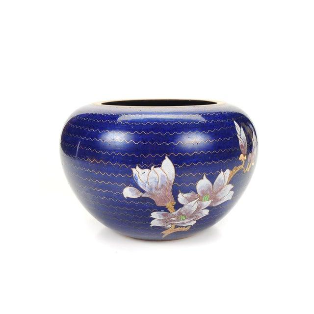 Japanese Antique Blue Cloisonne Vase - Image 3 of 7