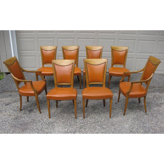 Burnt Orange Dining Room: Burnt Orange Upholstered Dining Chairs - Set Of 8