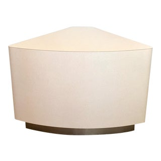 Karl Springer Style Pie Shaped Accent Table