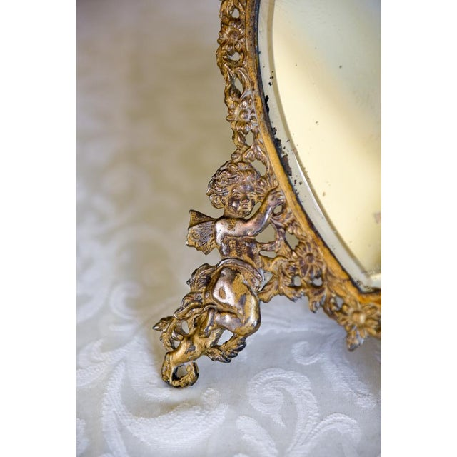 Large Victorian Heart-Shaped Easel Mirror - Image 3 of 6