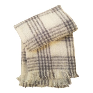 Neiman Marcus Scottish Wool Plaid Throw