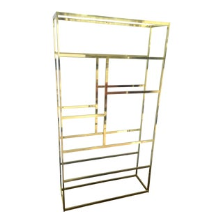 Gold Tone Brass Etagere