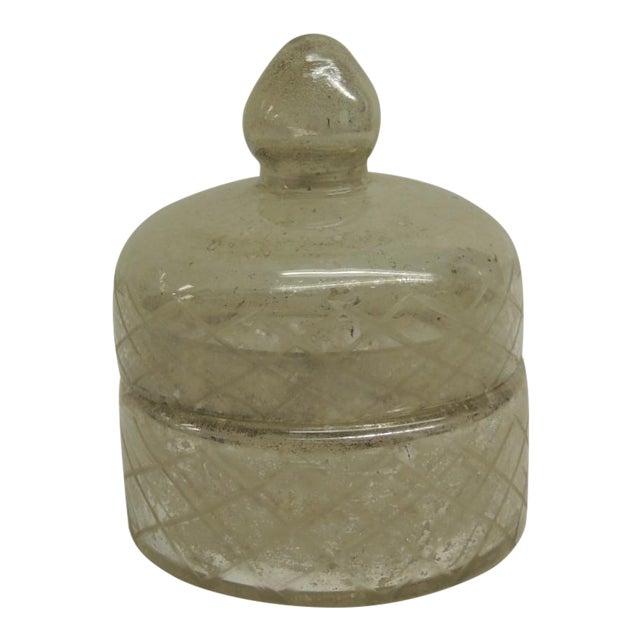 Image of Vintage Art Deco Mercury Glass Trinket Box