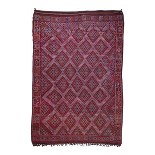 Hand Knotted Reversible Geometric Moroccan Rug - 6' X10'