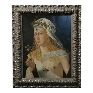 18th century Old Master - Demeter harvest Goddess -Oil Painting