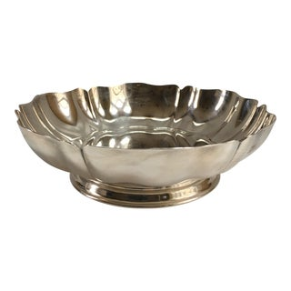 Vintage Scalloped Silver Plate Bowl