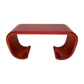 Red Lacquered Asian-Form Console